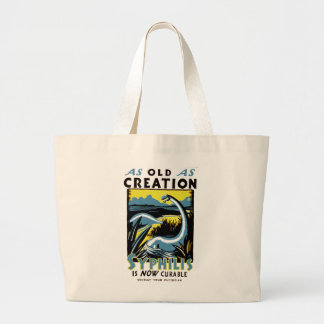 Old As Creation ~ Syphilis is Now Curable Tote Bags