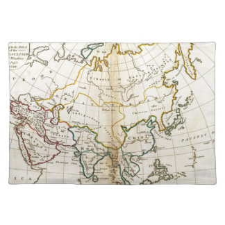 Old Asia map 1799 Placemat