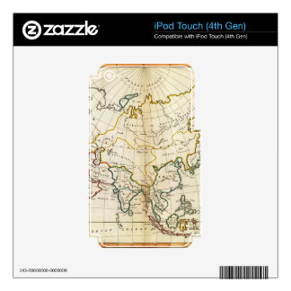 Old Asia map 1799 Skins For iPod Touch 4G