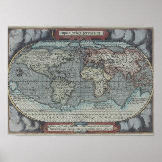 Old Atlas Print