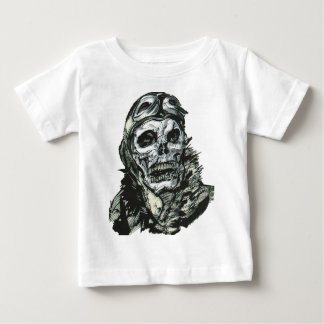Old Aviator Skull Baby T-Shirt
