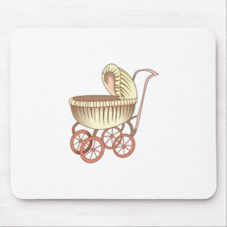 OLD BABY CARRIAGE MOUSE PAD