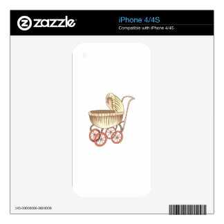 OLD BABY CARRIAGE SKIN FOR THE iPhone 4