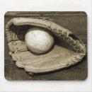 Old Baseball Mitt and Ball Mousepad