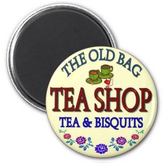 Old Bag Tea Shop Logo Magnet