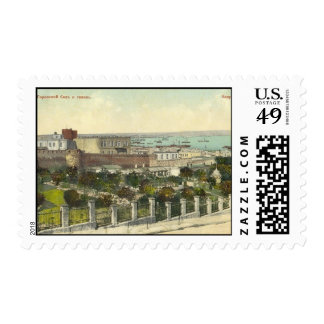 Old Baku - City garden & Quay Postage Stamps