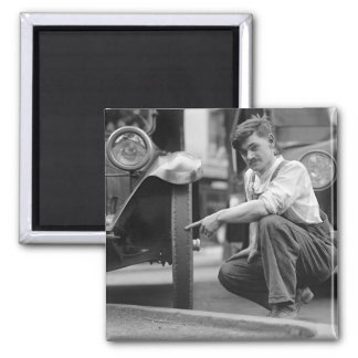 Old Baldy, 1922 2 Inch Square Magnet