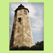 """""""Old Baldy"""" Lighthouse Card"""