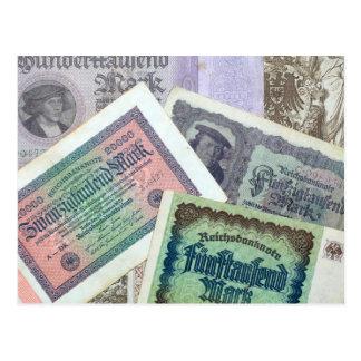 Old banknodes postcard