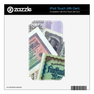 Old banknodes decal for iPod touch 4G