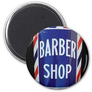 old barber shop sign 2 inch round magnet