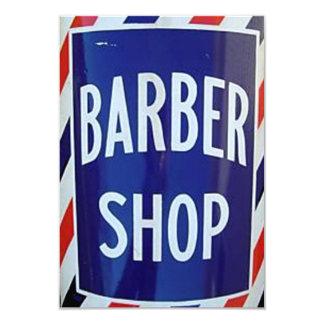 """old barber shop sign 3.5"""" x 5"""" invitation card"""