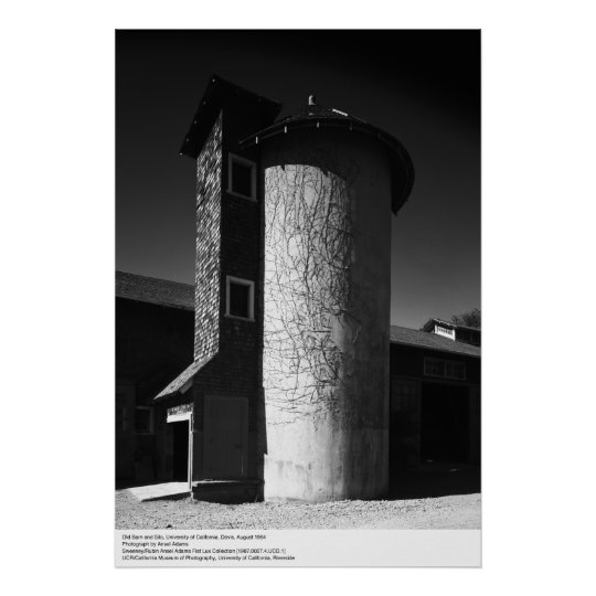 Old Barn and Silo, UCD, 1964 Poster