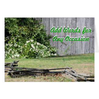 Old Barn-any occasion-add your words Card