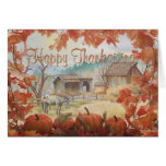 OLD BARN & APPALOOSA by SHARON SHARPE Greeting Card