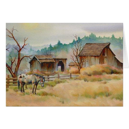 OLD BARN by SHARON SHARPE Card