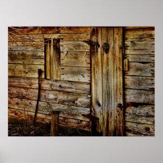Old Barn Door Print