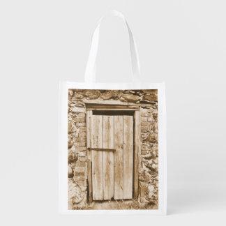 OLD BARN DOOR REUSABLE GROCERY BAG