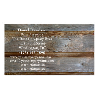 Old Barn Door Wood Double-Sided Standard Business Cards (Pack Of 100)