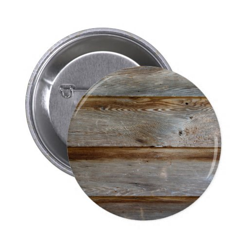Old Barn Door Wood Pinback Button