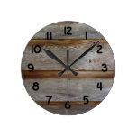 Old Barn Door Wood Wall Clocks