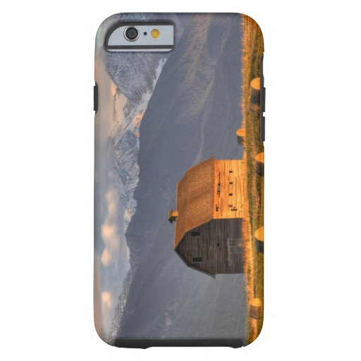 Old barn framed by hay bales and dramatic iPhone 6 case