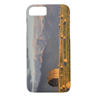 Old barn framed by hay bales and dramatic iPhone 7 case
