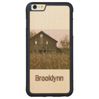 Old Barn in a Golden Corn Field Carved® Maple iPhone 6 Plus Bumper Case