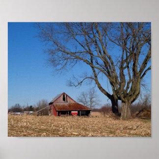 Old Barn in Illinois USA Canvas Print