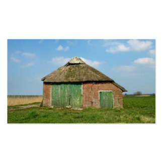 Old Barn in Meadow Small Photo Card Business Cards
