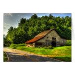 Old Barn in North Carolina Mountains Greeting Card