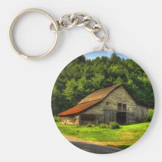 Old Barn in North Carolina Mountains Basic Round Button Keychain