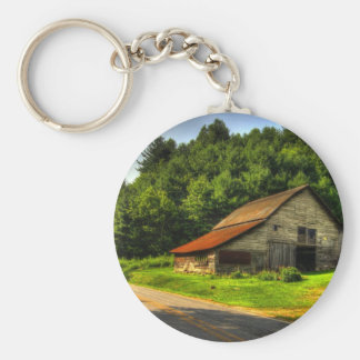 Old Barn in North Carolina Mountains Key Chains