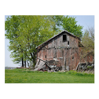 Old Barn in Rural Ohio Postcard