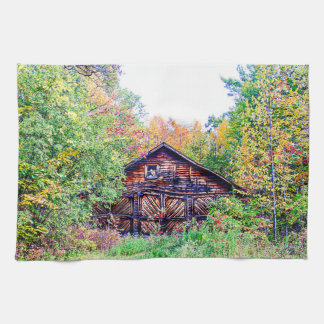 Old Barn in the Fall Hand Towel