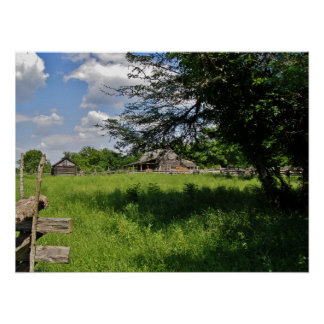 Old Barn in the Field Poster