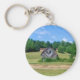 Old Barn Basic Round Button Keychain