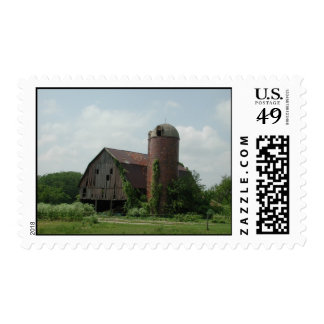 Old Barn Landscape Postage by Janz