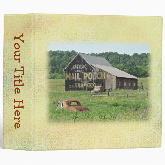 Old Barn Mail Pouch Tobacco Advertising Binder Zazzle Com