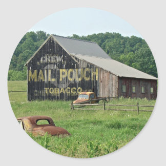 Old Barn Mail Pouch Tobacco Advertising Classic Round Sticker