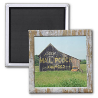 Old Barn Mail Pouch Tobacco Advertising 2 Inch Square Magnet