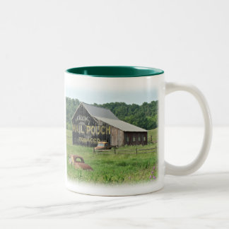 Old Barn Mail Pouch Tobacco Advertising Two-Tone Coffee Mug