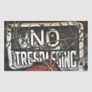 Old Barn No Trespassing Painting Stickers