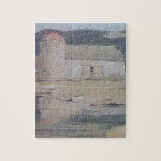Old Barn Photo Puzzle with Gift Box