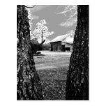 Old Barn Rural Barns Country Black & White Photo Postcard