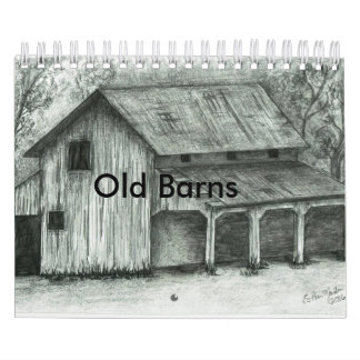 Old Barn sketches calendar
