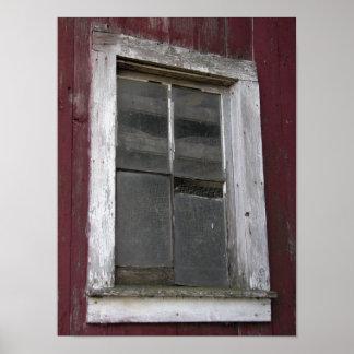 Old Barn Window Print