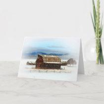 Old Barn Winter Holiday Card