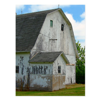 Old Barn With Oil Paint Effect Postcard