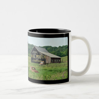 Old Barn With Painted Advertising Two-Tone Coffee Mug